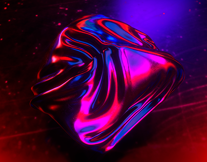 Abstract iridescent chrome art in Cinema 4D and Octane