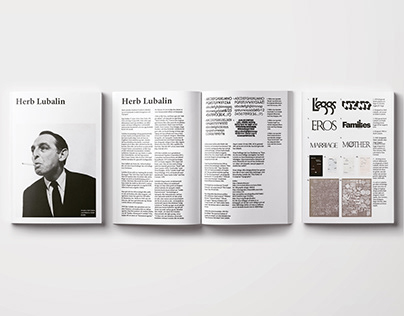 Spreads about Herb Lubalin