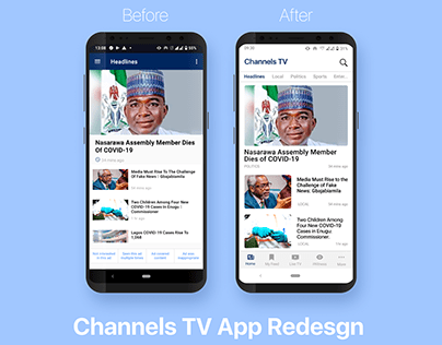 Channels TV App Redesign