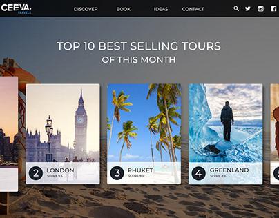 Adobe XD Challenge #Day3 Travel Agency Webpage