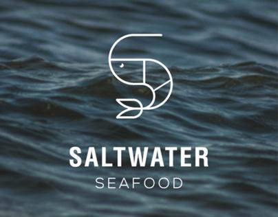 SALTWATER SEAFOOD Restaurant Logo/Branding