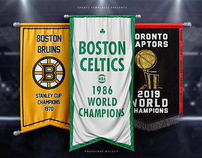 Sports Rafters & banners photoshop Templates pack