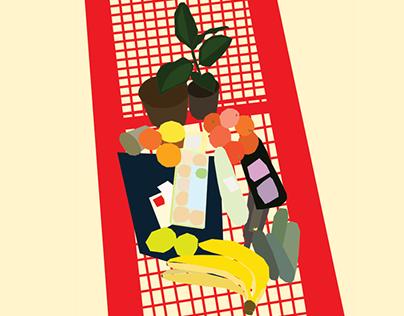 promo poster for supermarket