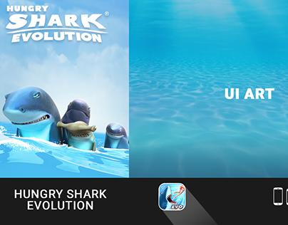 Hungry Shark Evolution: UI Art