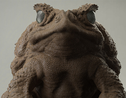 Traditional Toad Sculpt in CG