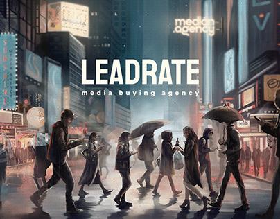 LeadRate website design