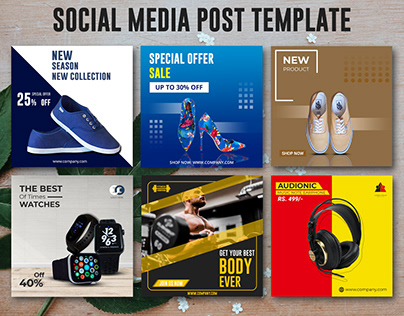 Social Post Banner-Products