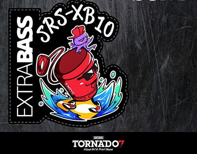 SONY ExtraBass Sticker Design [Illustration]