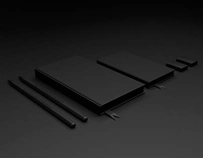 Free Branding Mockup Template C4D