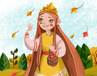 """Illustrations for the children's book """"Tales of Autumn"""""""