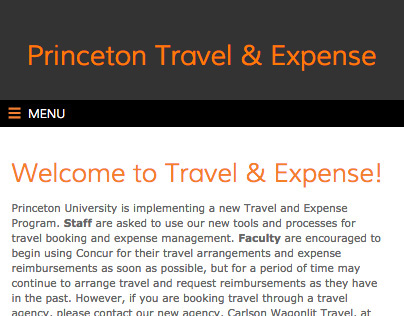 Princeton Travel & Expense
