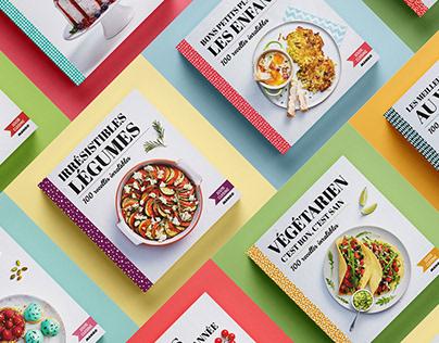 100% Cuisine, cookbooks collection | Book design
