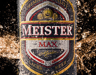 Meister beer can product shot