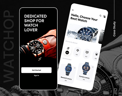 UX/UI Design for Watch Shopping App | Case Study