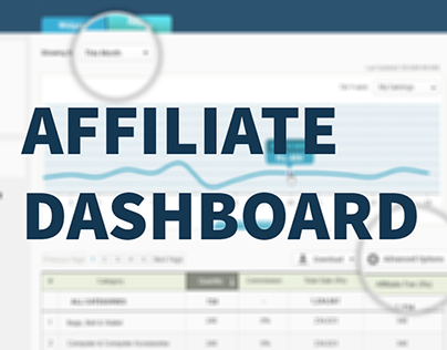 Affiliate dashboard for an e-commerce website