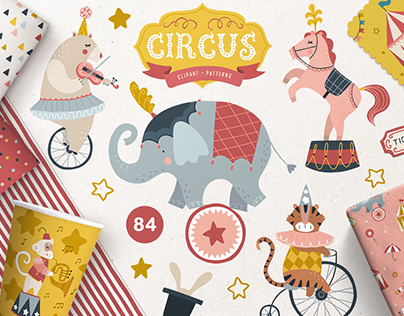 CIRCUS CLIPART | Design elements