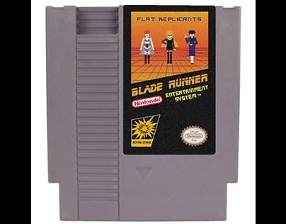 FLAT DESIGN exercice & mockup. Blade Runner 1982