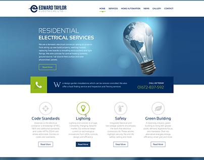 Edward Taylor Website design