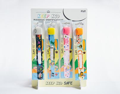 Ilustración y Diseño Keep Kid Pulseras Identificativas