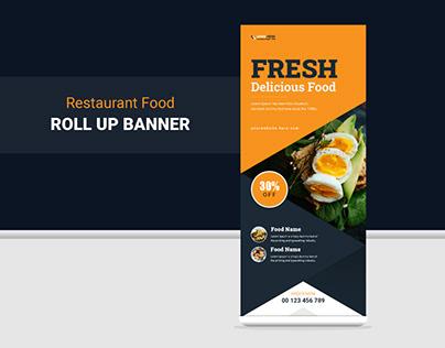 Restaurants Fast Food Roll Up Banner Design