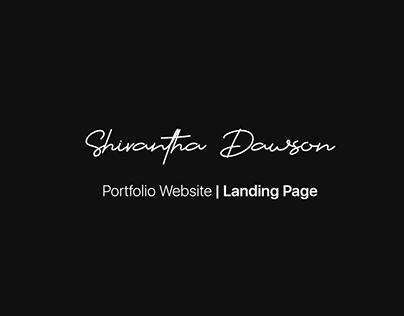 UI/UX - Portfolio Website | Landing Page