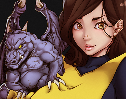 Kitty Pryde n Lockheed - X-MEN -