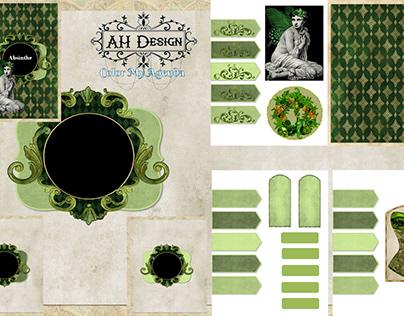 Printable Antique Absinthe Art Journal