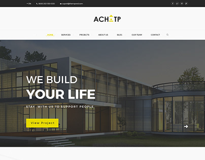 TPACHI-Architecture & Construction Premium PSD Template