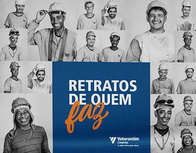 Retratos de quem faz - ação para o Dia do Pedreiro