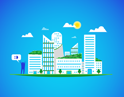 Smart City - Vector illustrations, 2018