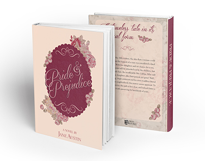 Pride & Prejudice book cover design