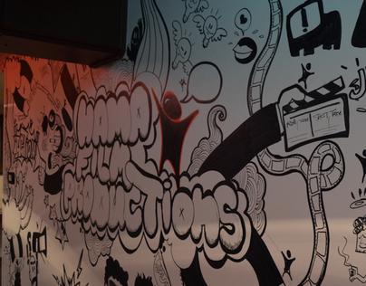 Hama film production Mural