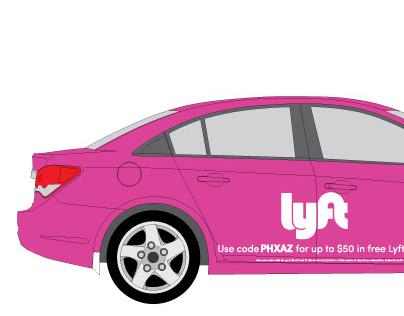 Lyft Car Wrap