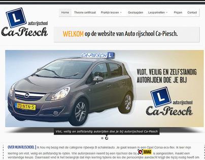 Ca-Piesch.nl | driving school | Website and Logo