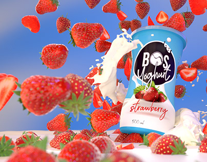 BOS yoghurt pack design and promotional photos