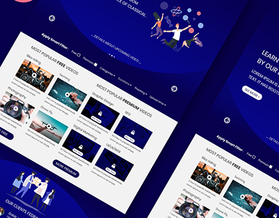 Web User Interface Template Design