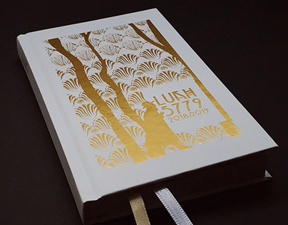 Diary with gold foil