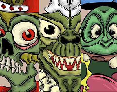 Halloween Comic movie Illustration
