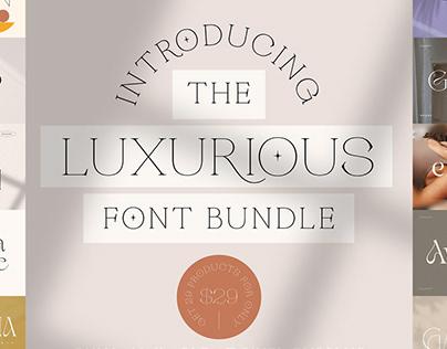 The Luxurious Font Bundle - 92% Off