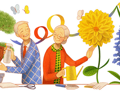 Respect for the Aged Day Google Doodle - Japan