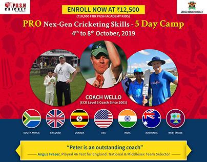 Coach Wello Cricket Camp
