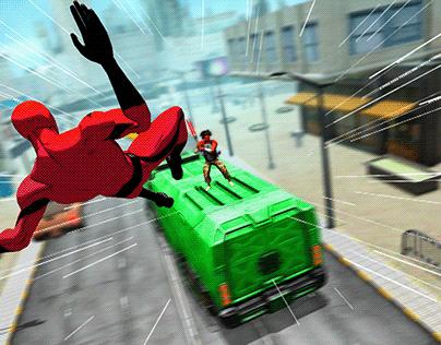 comic super toon action hero