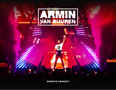 Armin van Buuren website concept