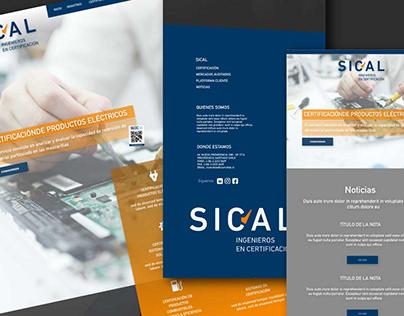 Diseño UX UI SITIO WEB SICAL