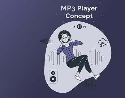 MP3 player UI concept