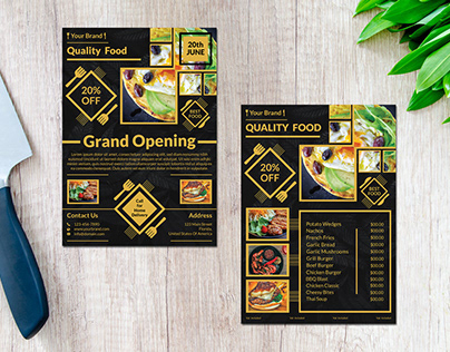 Creative food flyer and menu design