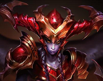 Shyvana - The half dragon LOGIN SCREEN