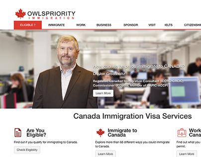 Owlspriority Immigration Consultants Website Design