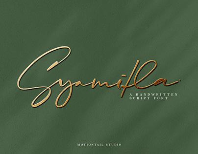 Syamitla - Handwritten Script font