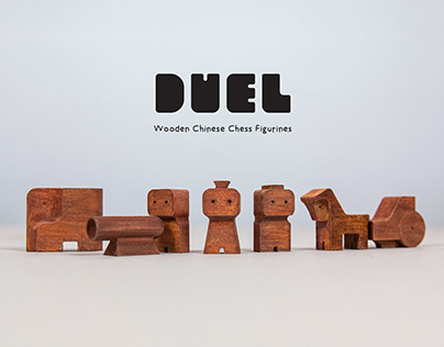 DUEL: Wooden Chinese Chess Figurines